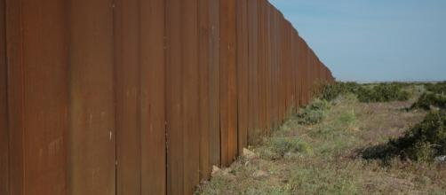 A new section of boarder wall was a campaign promise of Trump photo via flickr