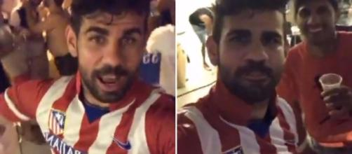 Chelsea ace Diego Costa parties in Atletico Madrid shirt as he .... (Image Credit: instagram | Costa)