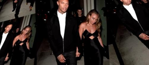 Jeremy Meeks steps out with Chloe Green in Los Angeles. Image via YouTube/ET