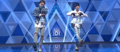 'Produce 101' Kim Yong Guk & Kim Si Hyun /Produce 101 Boys: BEHIND/ YouTube