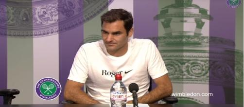 Roger Federer Wimbledon press conference via Youtube/ Wimbledon Channel.