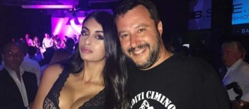 Salvini con la modella italo marocchina