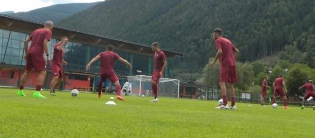 I giocatori del Trapani in ritiro a Spiazzo (Trentino) - ph.trapanicalcio.it