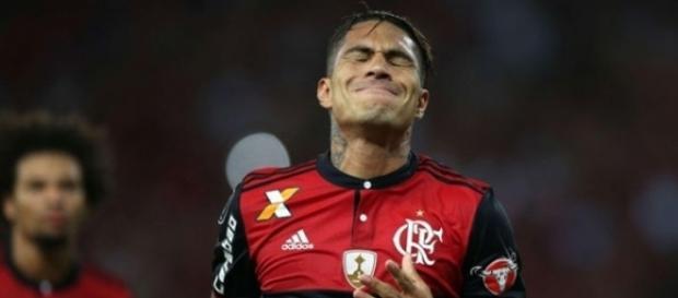 Paolo Guerrero tem proposta do futebol Inglês e pode deixar o Flamengo em breve. ( Foto: Reprodução)