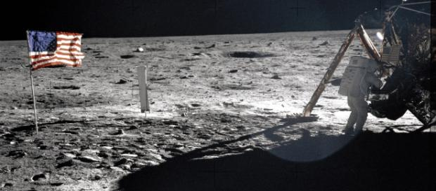 The moon bag used by Neil Armstrong to collect samples from the moon will be auctioned at fetch around $4 million. Image Source: NASA
