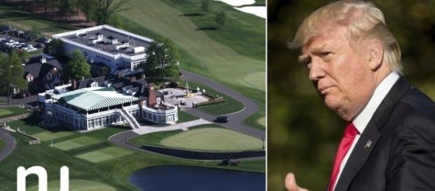 The Trump National Golf Club in Bedminster where the president's family met, minus Donald Jr. (Image - NJ.com, YouTube)