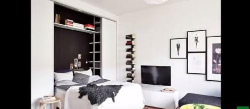 25m2 apartment tidy, lovely - Image credit - Home & Ideas | YouTube