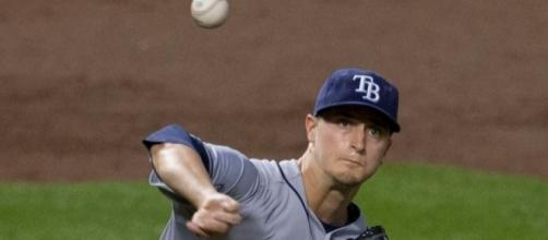 Odorizzi in action, Wikipedia https://en.wikipedia.org/wiki/Jake_Odorizzi#/media/File:Jake_Odorizzi_on_August_25,_2014.jpg
