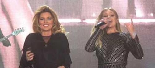 Shania Twain and Kelsea Ballerini shared the stage at Stagecoach and share deep mutual admiration.=Screencap Edward Adan/YouTube