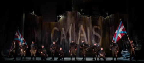 The opening chorus of Gaetano Donizetti's 'Siege of Calais.' Photo: Carrington Spires/The Glimmerglass Festival, used with permission.
