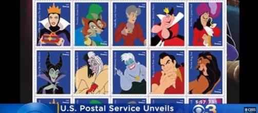 USPS Unveils Disney Villain Forever Stamps - Image - CBS Philly | YouTube