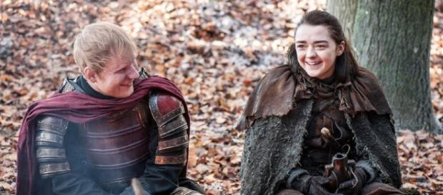Arya Stark (Maisie Williams) interacting with Lannister soldiers without killing them, in 'Game of Thrones' [Image source: Youtube Screen grab]