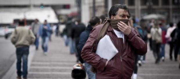 Em São Paulo o frio deixa a sensação térmica em quase 0ºC (Foto: Reprodução)