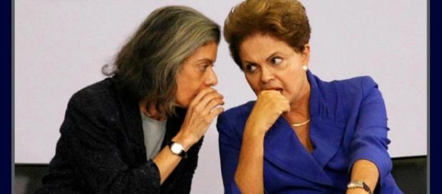Ex-presidente Dilma Rousseff junto com a presidente do STF, Cármen Lúcia (Foto: Reprodução)