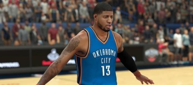 NBA 2K17 Screenshot - Paul George Oklahoma City Thunder.