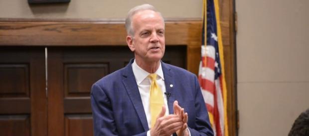 Sen. Jerry Moran withdraws support for GOP healthcare bill. Photo via GC Telegram, YouTube.