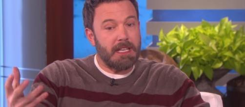 "Ben Affleck leaves upcoming movie ""Triple Frontier"" to focus on his wellness. Image via YouTube/TheEllenShow"