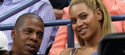 Beyoncé et son mari Jay Z pendant l'US Open 2016 au USTA Billie Jean King National Tennis Center