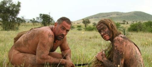 Cast members from the Discovery series Naked and Afraid. Image via Discovery, used with permission