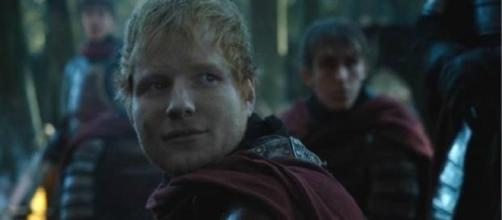 Ed Sheeran as a Lannister soldier with a golden voice in 'Game of Thrones' [Image source: Youtube Screen grab]