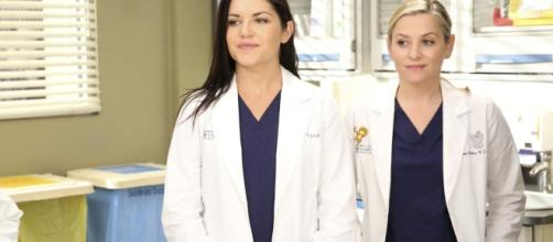 Eliza and Arizona on 'Grey's Anatomy' [Image via Hidden Remote Twitter]