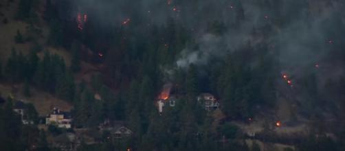 In British Columbia, wildfires caused 39,000 people to leave their houses/ Image Credit :YouTube/CBS News