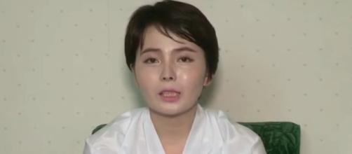 Lim Ji-hyun (North Korean defector on state TV after kidnapping) / [Screenshot from Arirang News via YouTube:https://youtu.be/AwzJja7V13U]