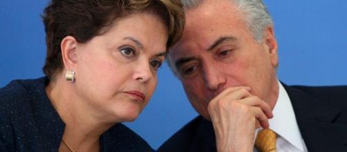 Michel Temer e Dilma, antiga aliada (Foto: Reprodução)