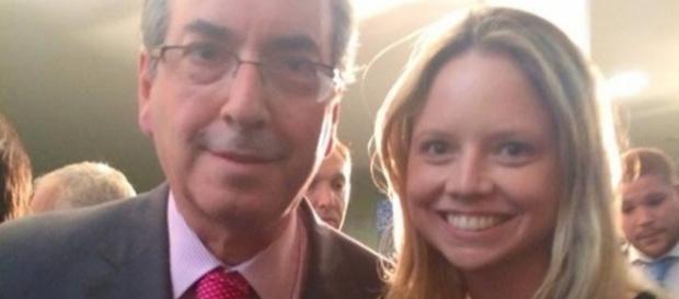 Ex-presidente da Câmara dos Deputados e sua filha Danielle Dytz. ( Foto: Reprodução)
