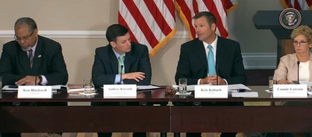 First voter commission meeting. / [Screenshot from White House via YouTube:https://youtu.be/F0DQgHhEiWk]