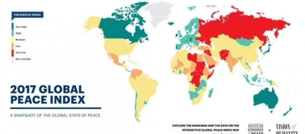 """Global Peace Index on Twitter: """"Global levels of peacefulness ... - twitter.com"""