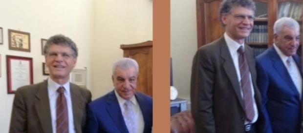 Il presidente del CUFOM Angelo carannante riceve a Benevento l'archeologo egiziano Zahi Hawass