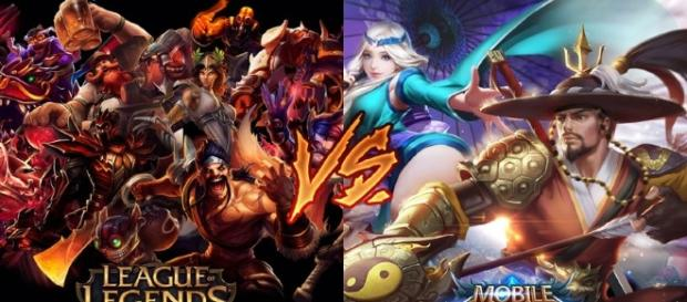 League of Legends and Mobile Legends side by side/ photo via vulcanpost