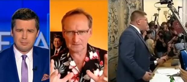 Michał Rachoń oraz Wojciech Cejrowski (źródło: TVP).