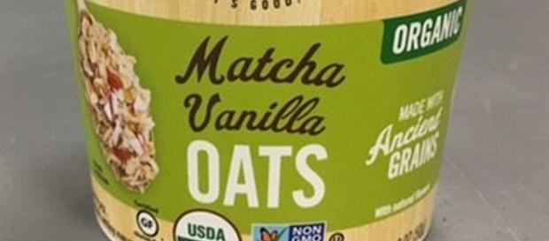 Recall of Matcha Vanilla Oats [Image: fda.gov]