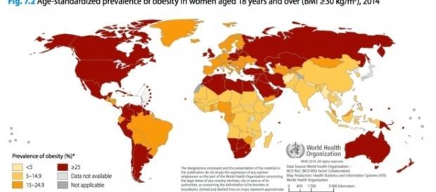 Uno studio della Stanford University ha determinato i paesi più obesi del mondo