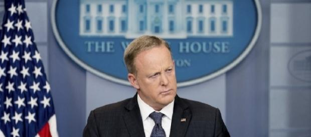 White House hints Sean Spicer is gone - https://en.wikipedia.org/wiki/Sean_Spicer