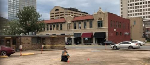 A photo showing the area in Little Rock, Arkansas where the shooting took place - YouTube/Wochit News