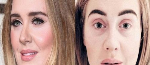 Adele, em imagem publicada no seu perfil do Instagram