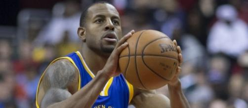 Andre Iguodala of Golden State Warriors by author Keith Allison via Wikimedia Commons
