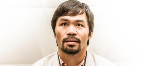 Manny Pacquiao arrives in #AIBAWorlds2015. Author: Boxing AIBA - via Flickr