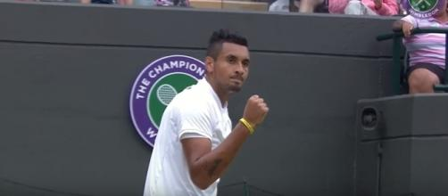 Nick Kyrgios during Wimbledon 2016. Photo - YouTube Screenshot/@Wimbledon