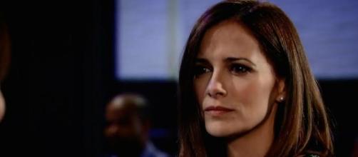 """Rebecca Budig from a """"General Hospital"""" screenshot"""