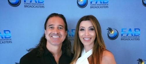 Scott Stapp and wife, Jaclyn, feel blessed and surprised to be expecting again. BMI-FL Broadcasters Service Award-by permission