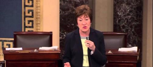 Sen. Susan Collins said Trump is an embarrassment to the nation. Photo via Sen. Susan Collins, YouTube.