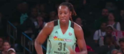 Tina Charles and the Liberty try to snap a losing skid in today's game at Atlanta. [Image via WNBA/YouTube]
