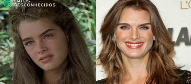 """Antes e depois da atriz de """"A Lagoa Azul"""""""
