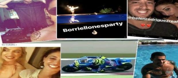 Belen Rodriduez al party di Borriello a Ibiza via Instagram