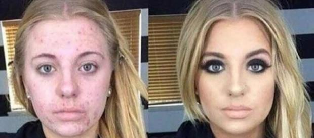 Confira essas 10 mulheres antes e depois da maquiagem. Inacreditável!