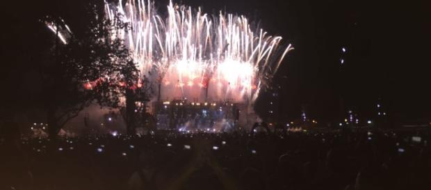 Il gran finale del concerto al Modena Park